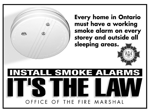 Install smoke alarm its the law